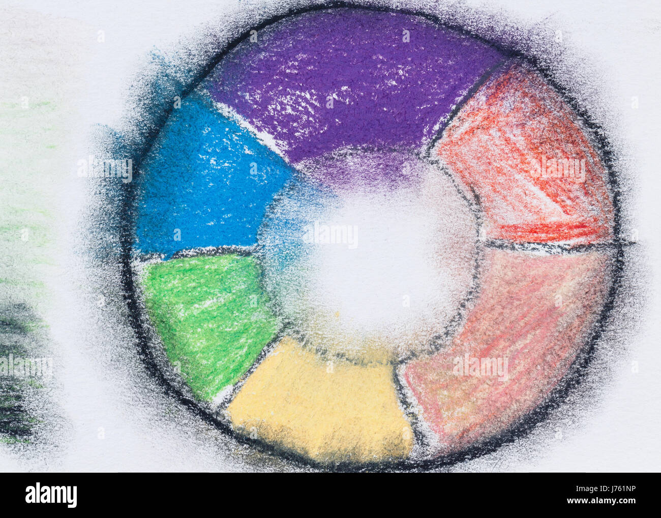 Color Wheel With Pastel Pencils Tutorial Design Element Abstract