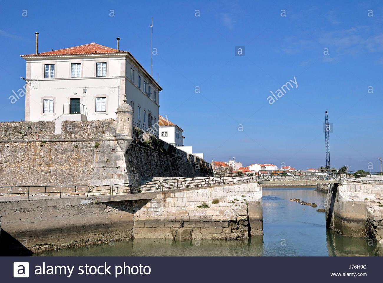 port authority peniche - Stock Image