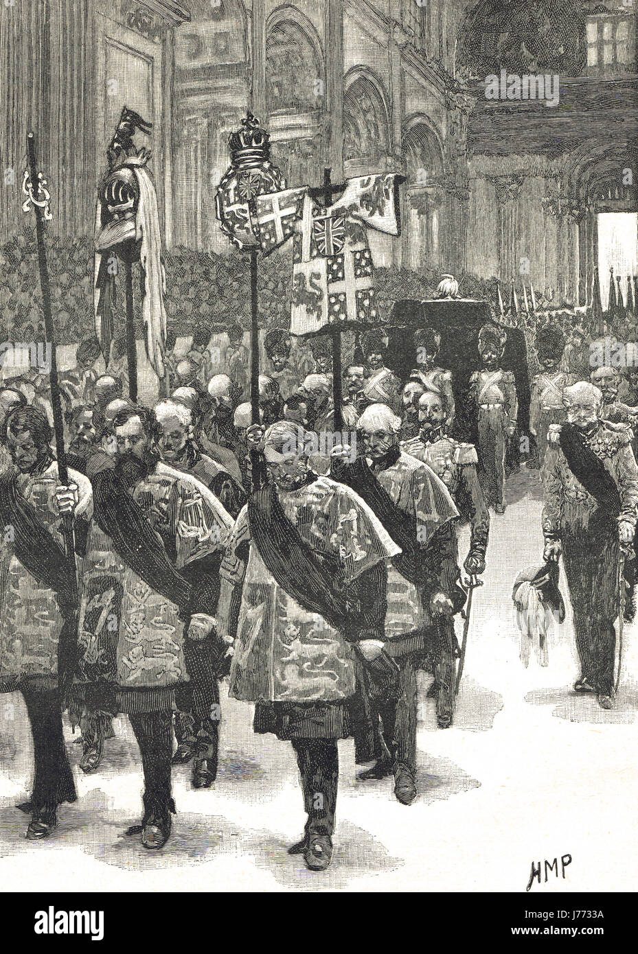 Funeral of the Duke of Wellington 1852 - Stock Image