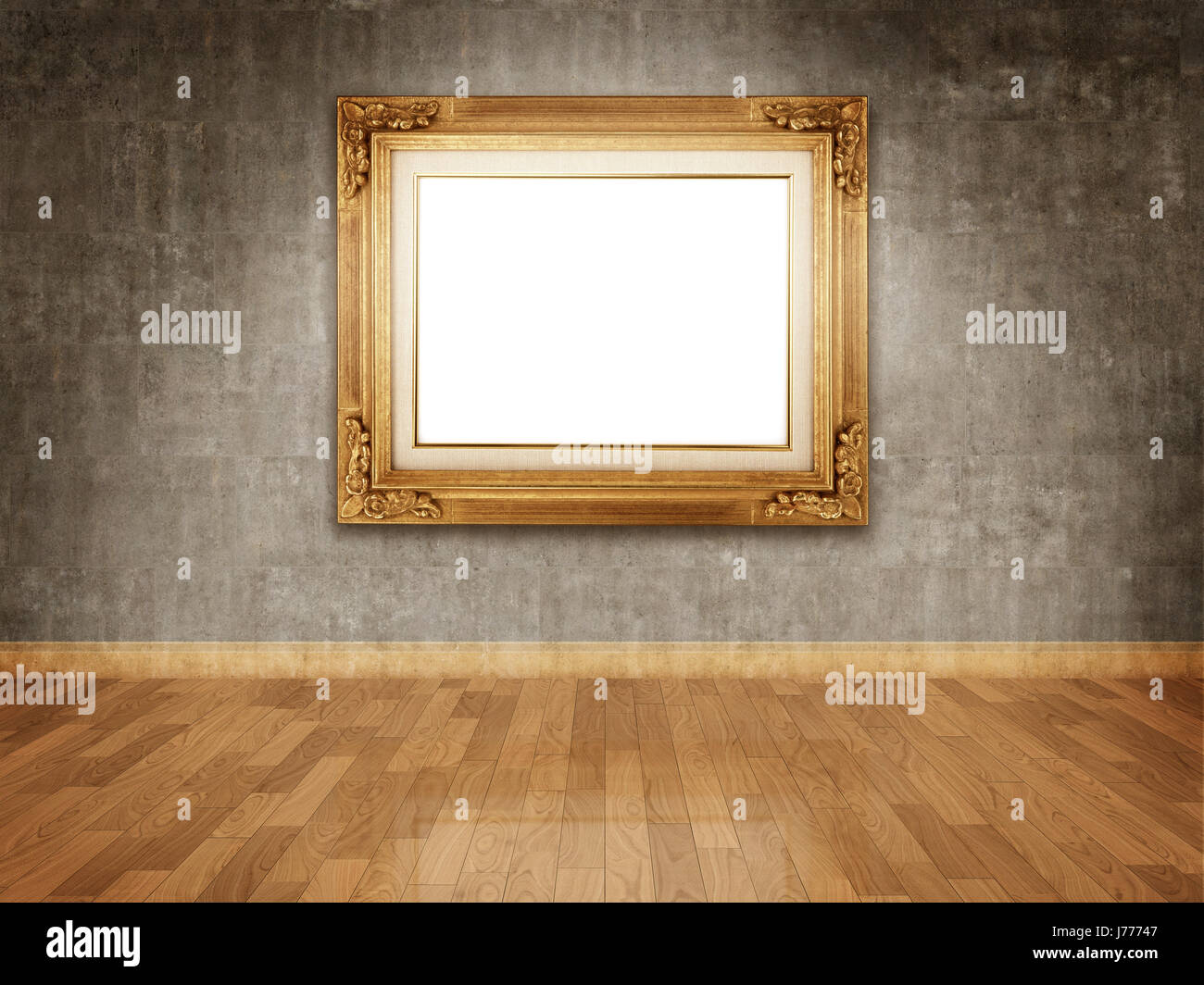 art wall museum empty canvas gallery frame framework floor house ...