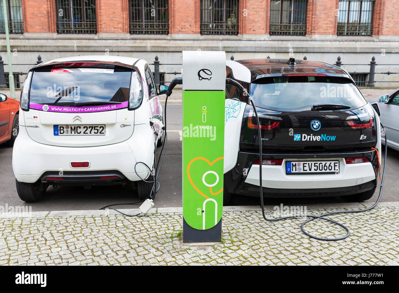 Berlin Germany April 14 2017 Electric Cars Models Bmw I3 And