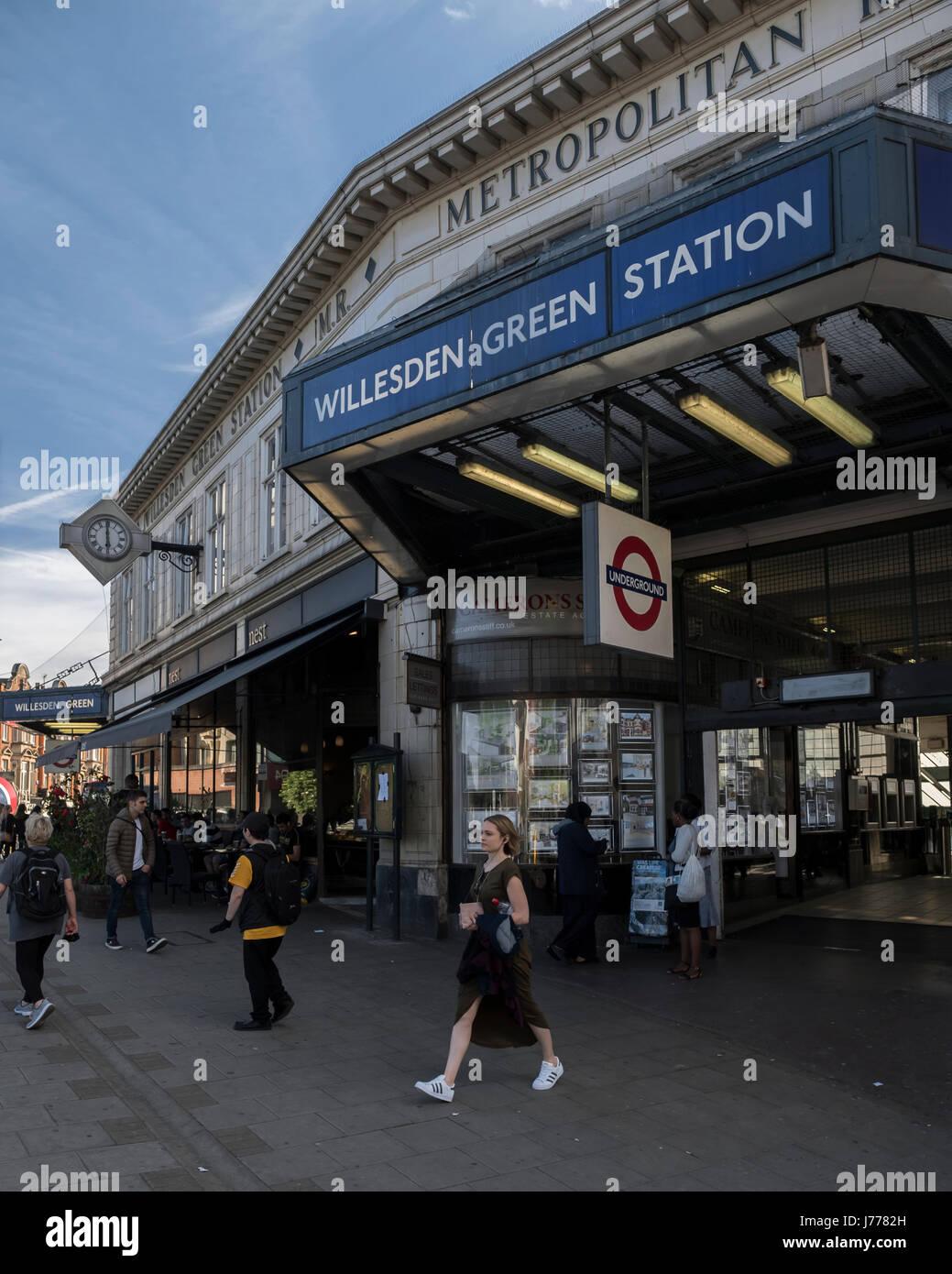 Willesden Green station - Stock Image