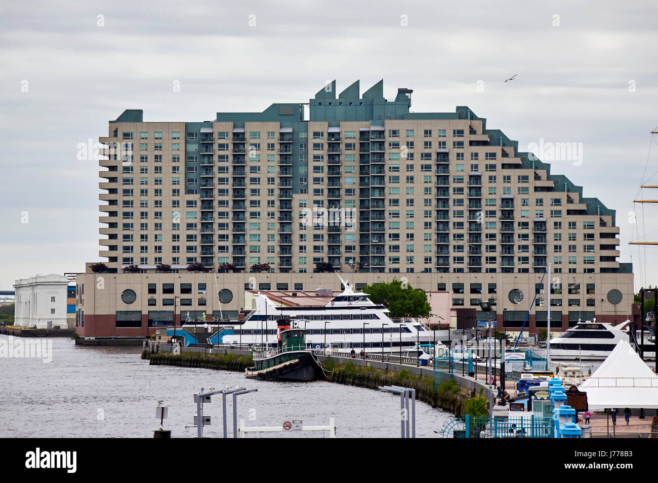 residences at dockside apartment building on the waterfront philadelphia USA - Stock Image