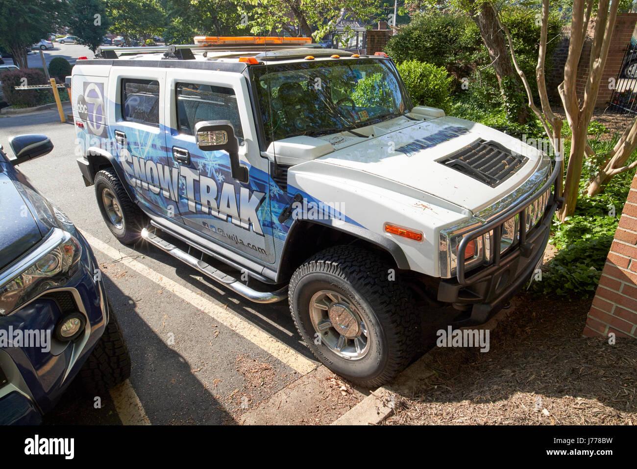 abc 7 wjla snowtrak hummer television weather vehicle Washington DC USA - Stock Image