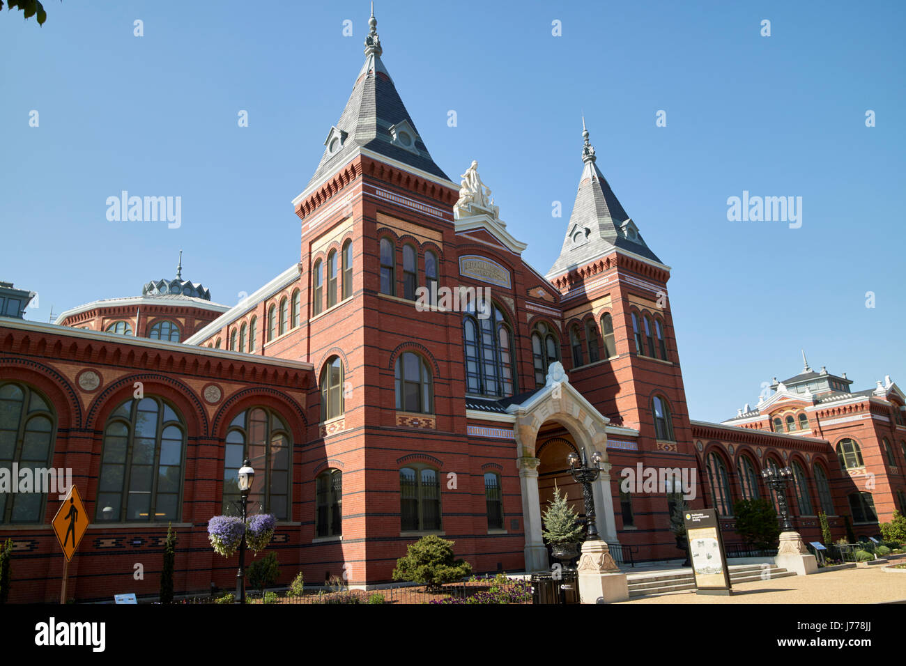 smithsonian arts and industries building Washington DC USA - Stock Image