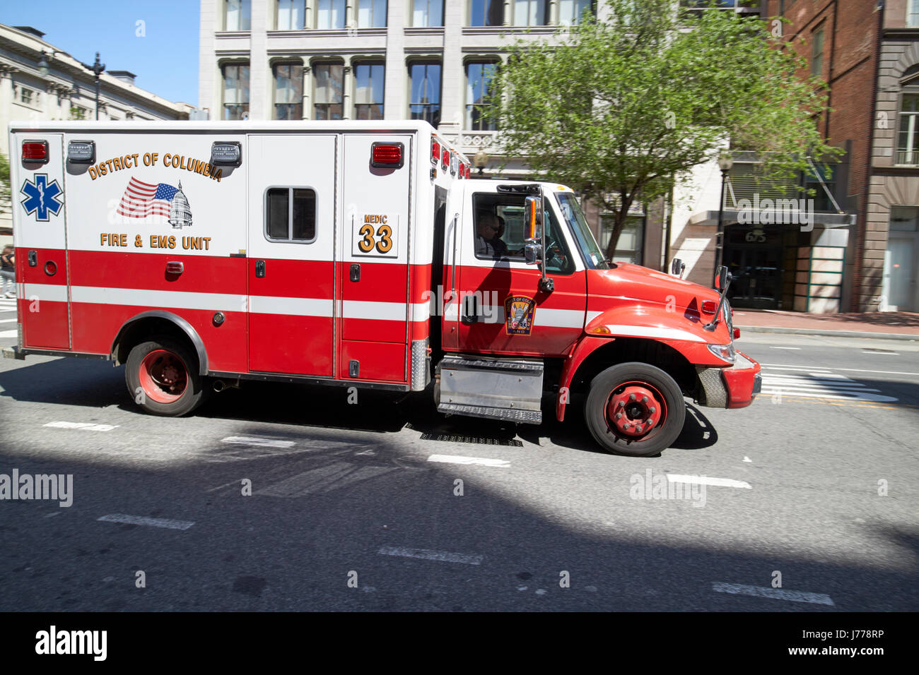 district of columbia fire and ems unit medic on call Washington DC USA - Stock Image