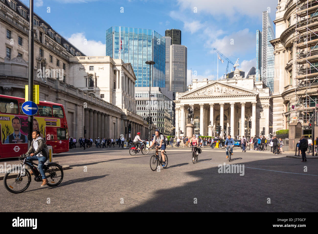 City of London, UK. 23rd May 2017. City of London Corporation launch 'Bank on Safety', an 18 month trial to limit Stock Photo