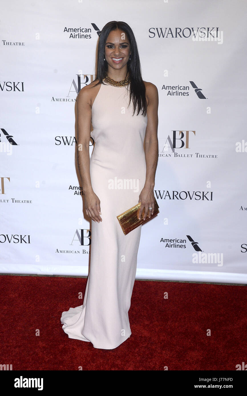 Misty Copeland attends the American Ballet Theatre Spring Gala 2017 at Metropolitan Opera House on May 22, 2017 - Stock Image