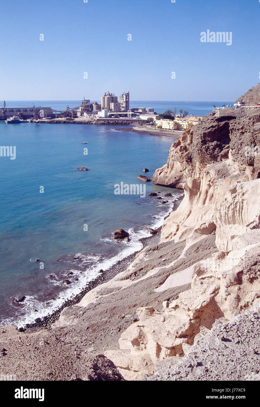 Cement factory. Pasito Blanco, Gran Canaria island, Canary Islands, Spain. - Stock Image