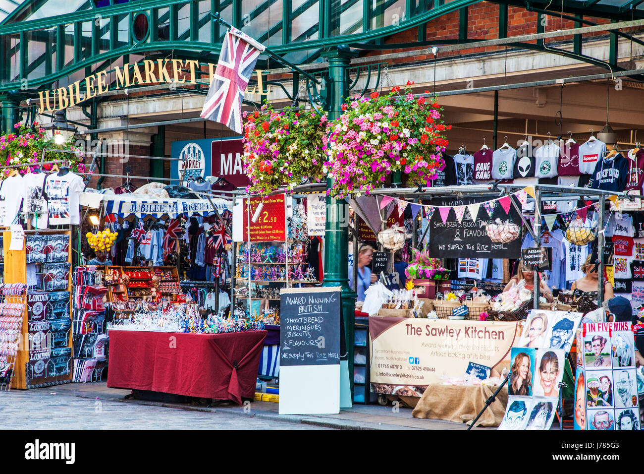 The Jubilee Market Hall in Covent Garden in London. - Stock Image