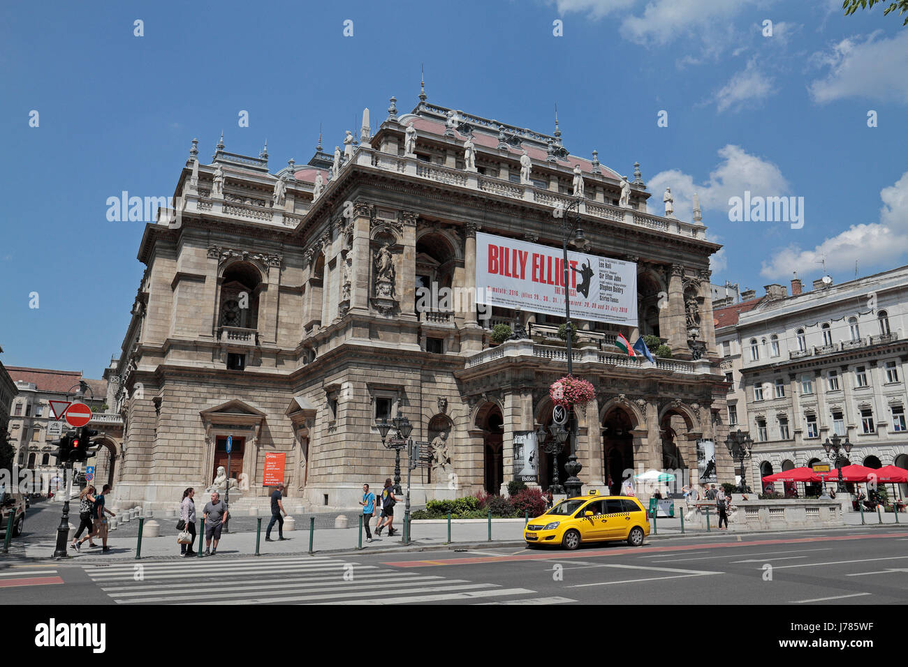 The Hungarian State Opera House (Magyar Allami Operahaz) in Budapest, Hungary. - Stock Image