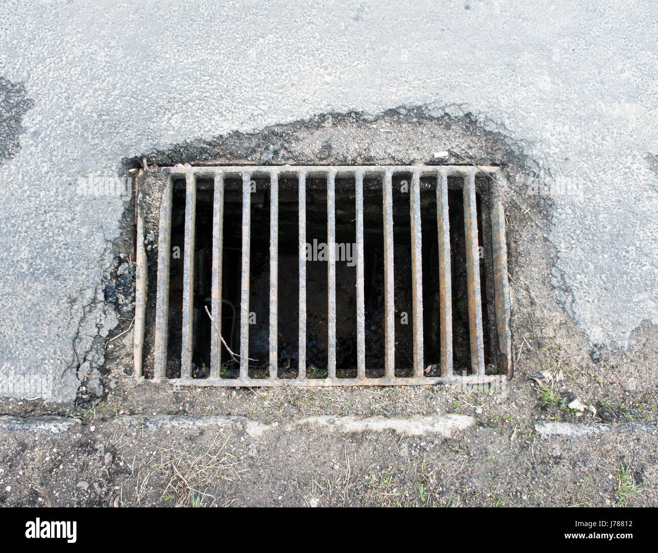 sewer grate - Stock Image