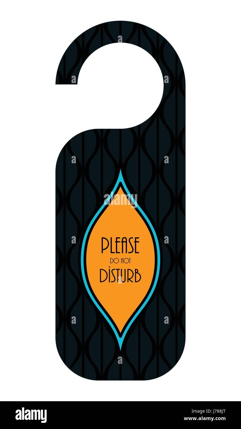 do not disturb hotel door knob, door hanger with special design Stock Vector