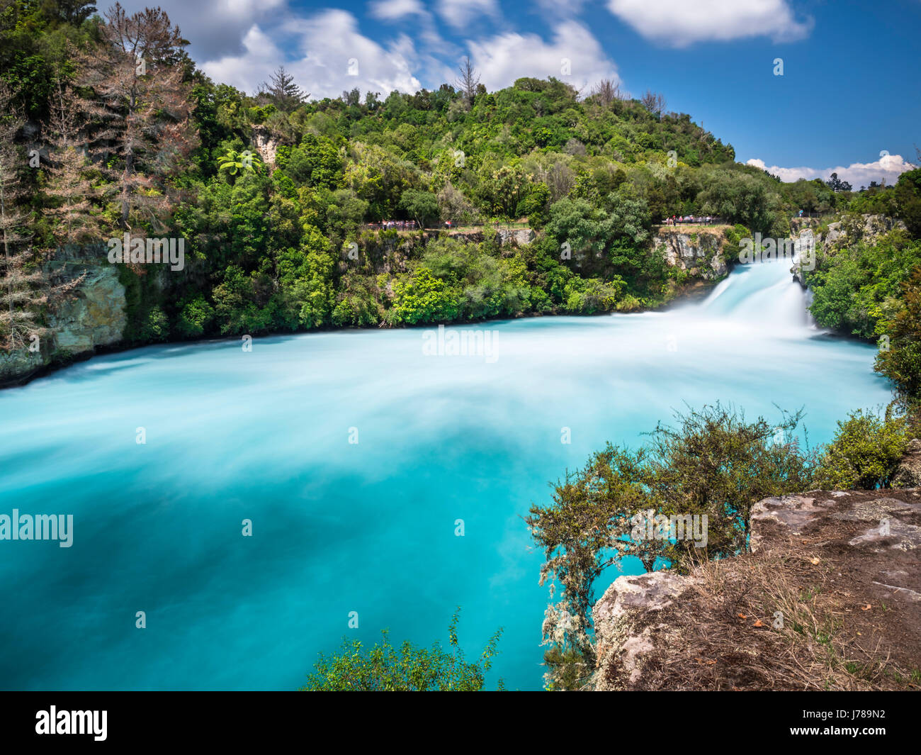 New Zealand, Taupo District, Waikato River, Huka Falls - Stock Image
