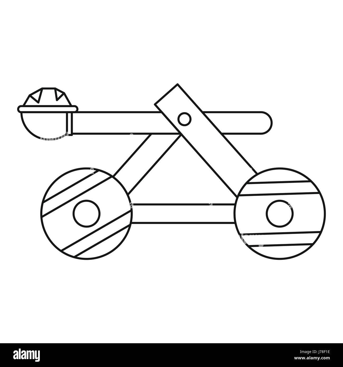 Trebuchet Black And White Stock Photos Images Alamy Catapult Motion Diagram Onager Wooden Icon In Outline Style On A Background Vector Illustration Image