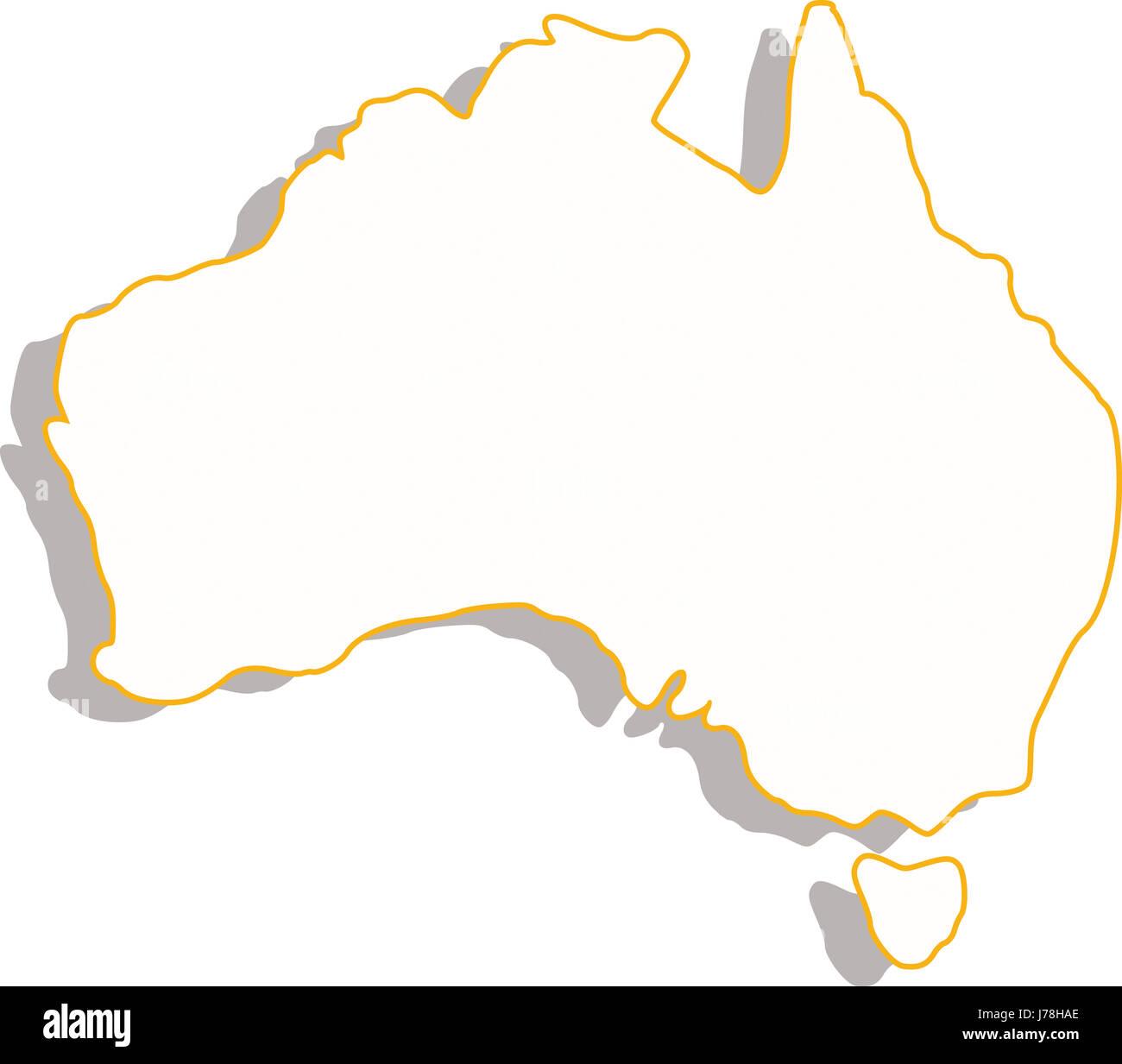 australia illustration map atlas map of the world white travel ...