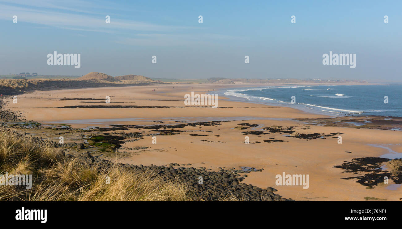 Sweeping bay at Embleton Stock Photo