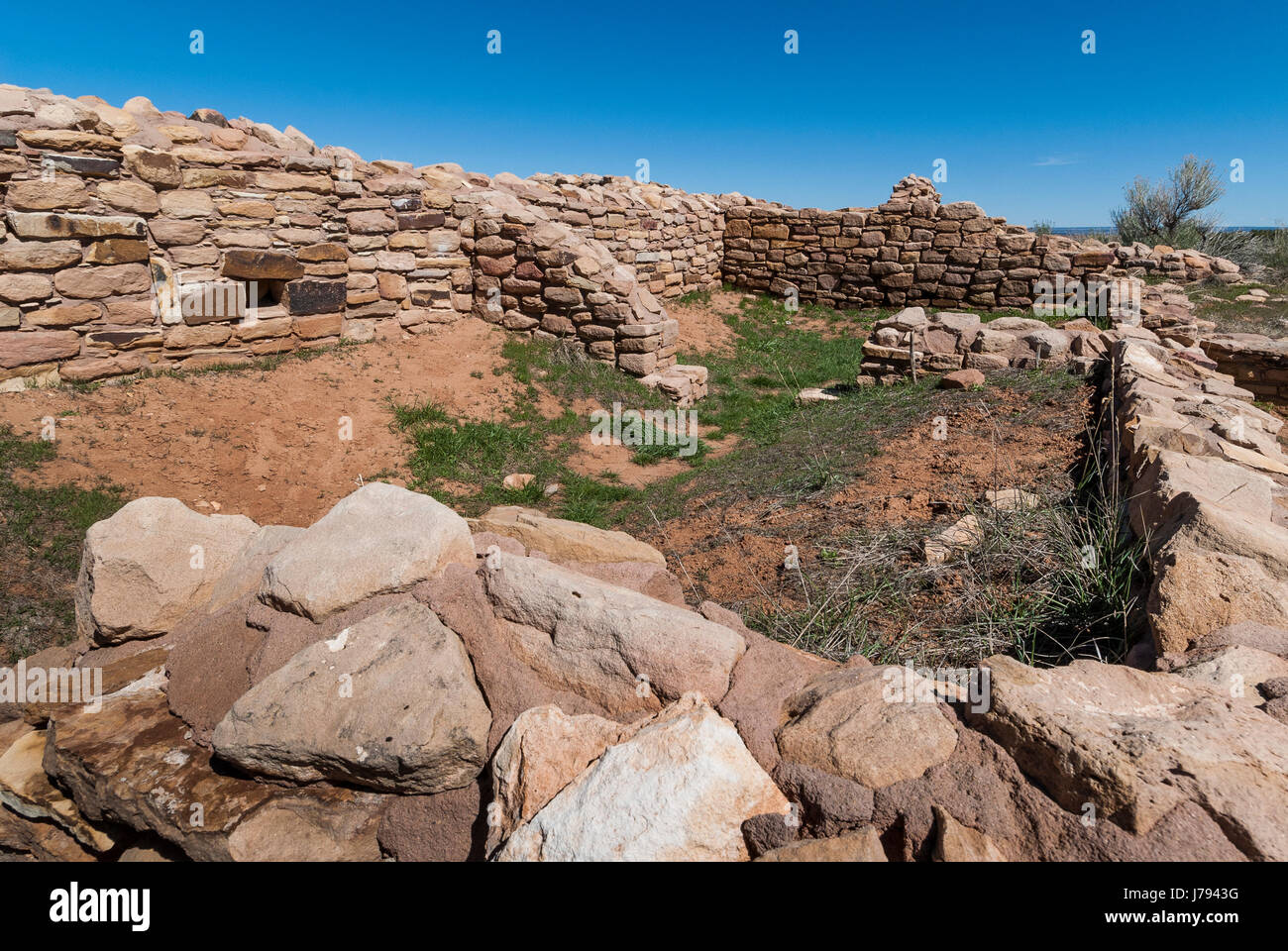 Lowry Pueblo ruins, Canyons of the Ancients National Monument northwest of Cortez, Colorado. - Stock Image