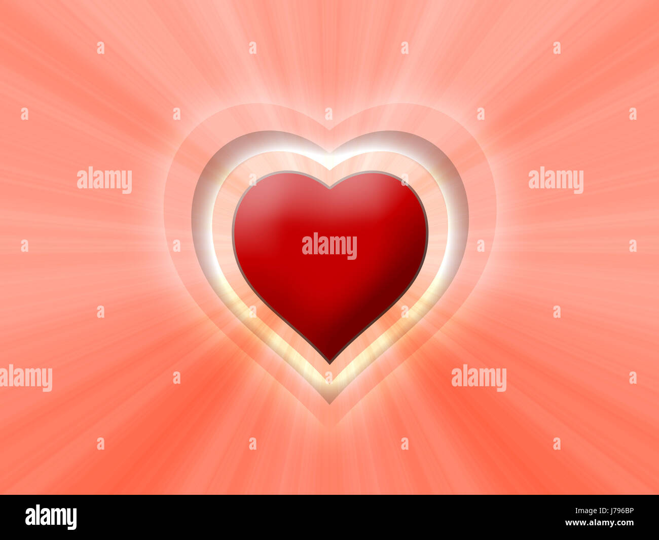 heart light 07 - Stock Image