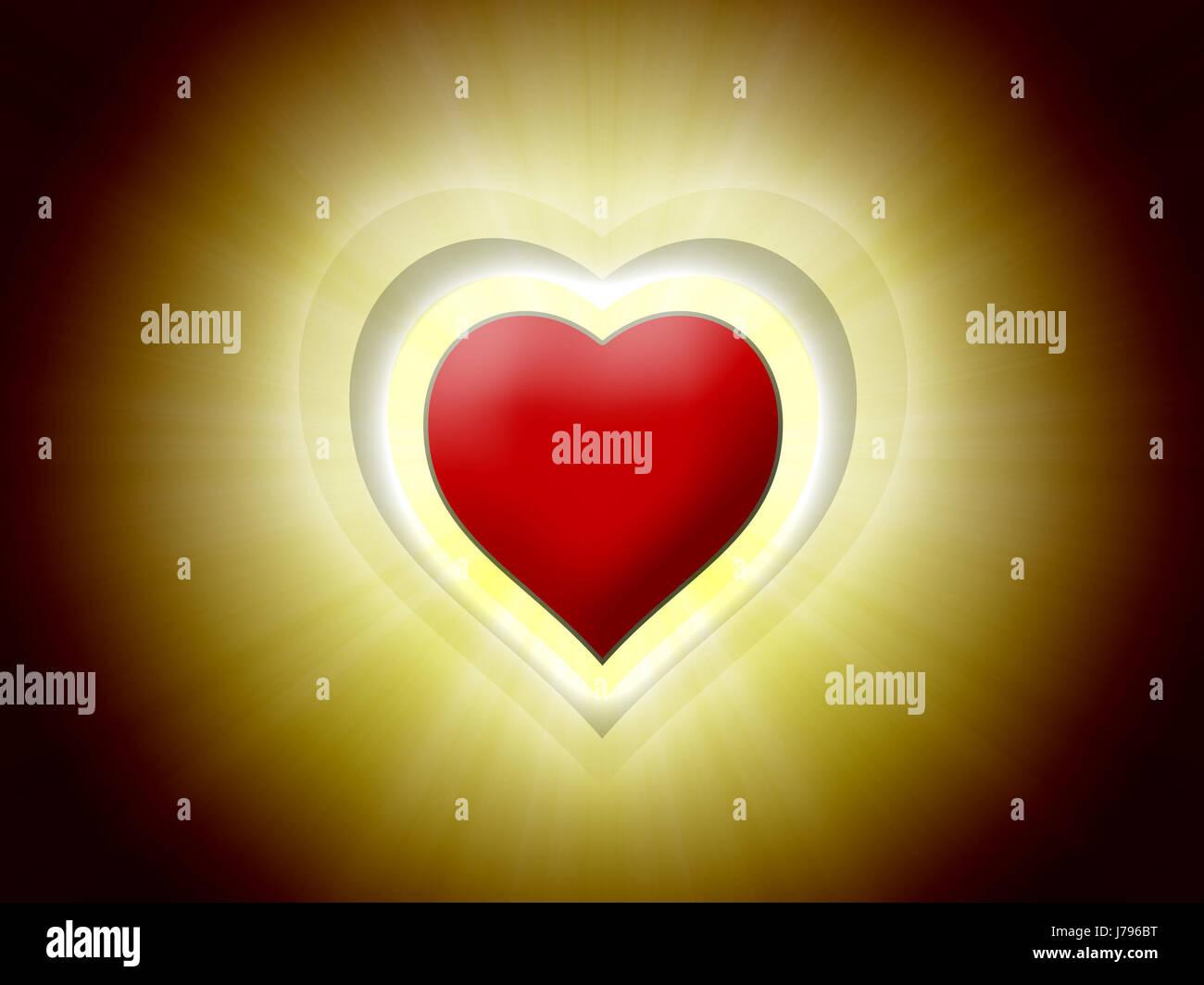 heart light 09 - Stock Image