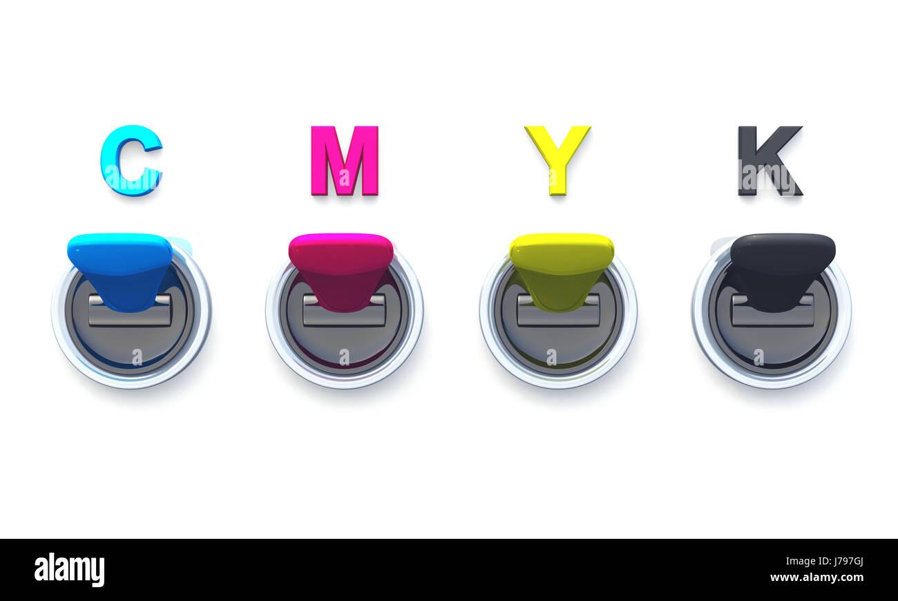 cmyk - toggle 01 - Stock Image