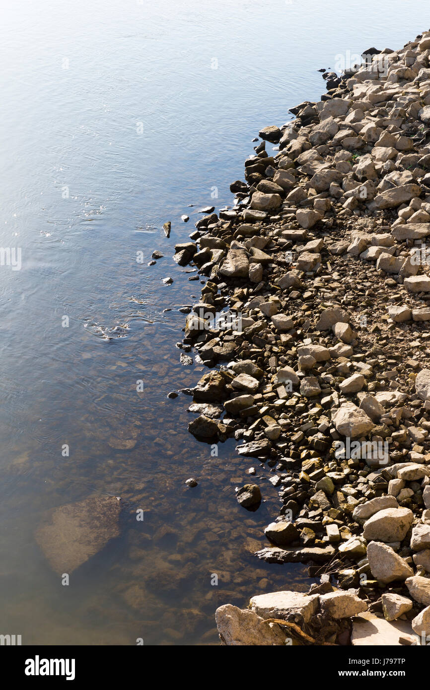 A stone edge of pure tranquillity water vapor perfection. - Stock Image