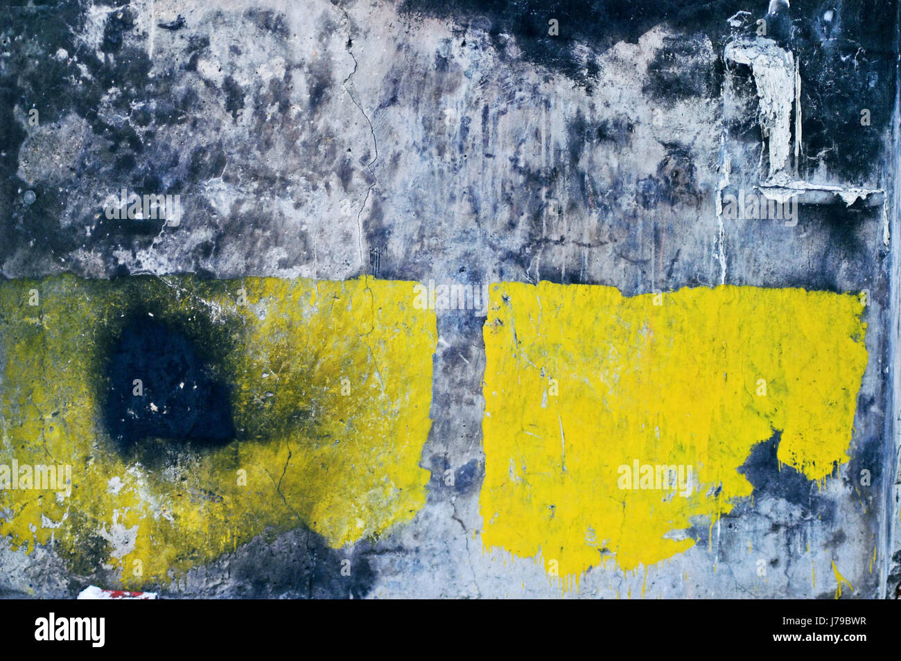 wall broken abstract dilapidated painted old outdoors close stone ...