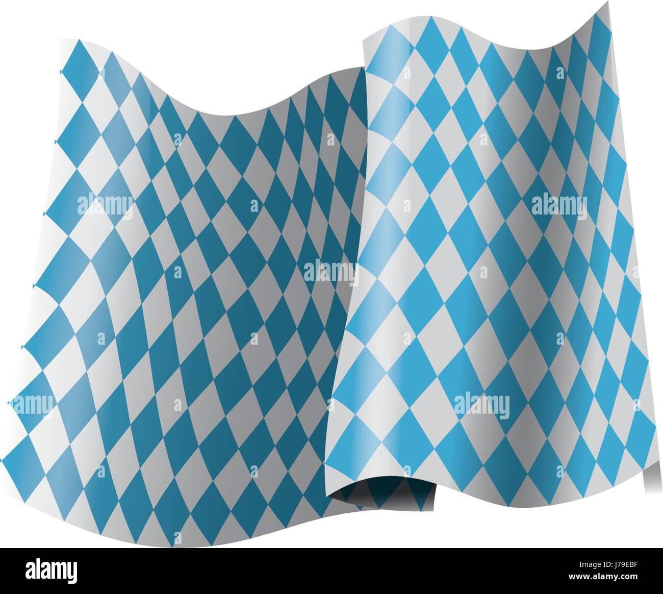 bavarian official flag, symbol, banner. oktoberfest cwelebration - Stock Vector
