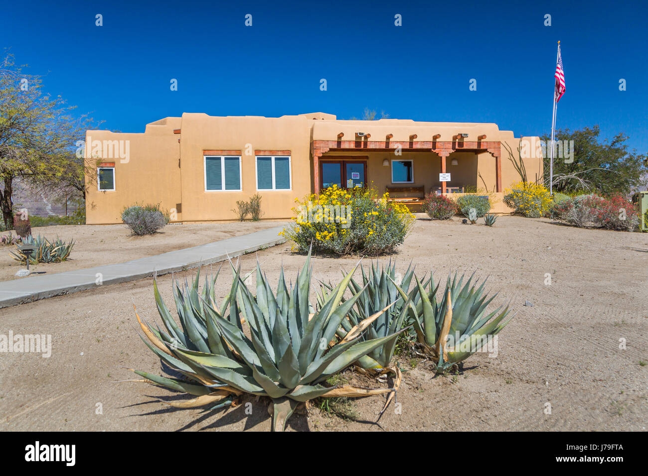 The Borrego Springs Chamber of Commerce building in Borrego Springs, California, USA. - Stock Image