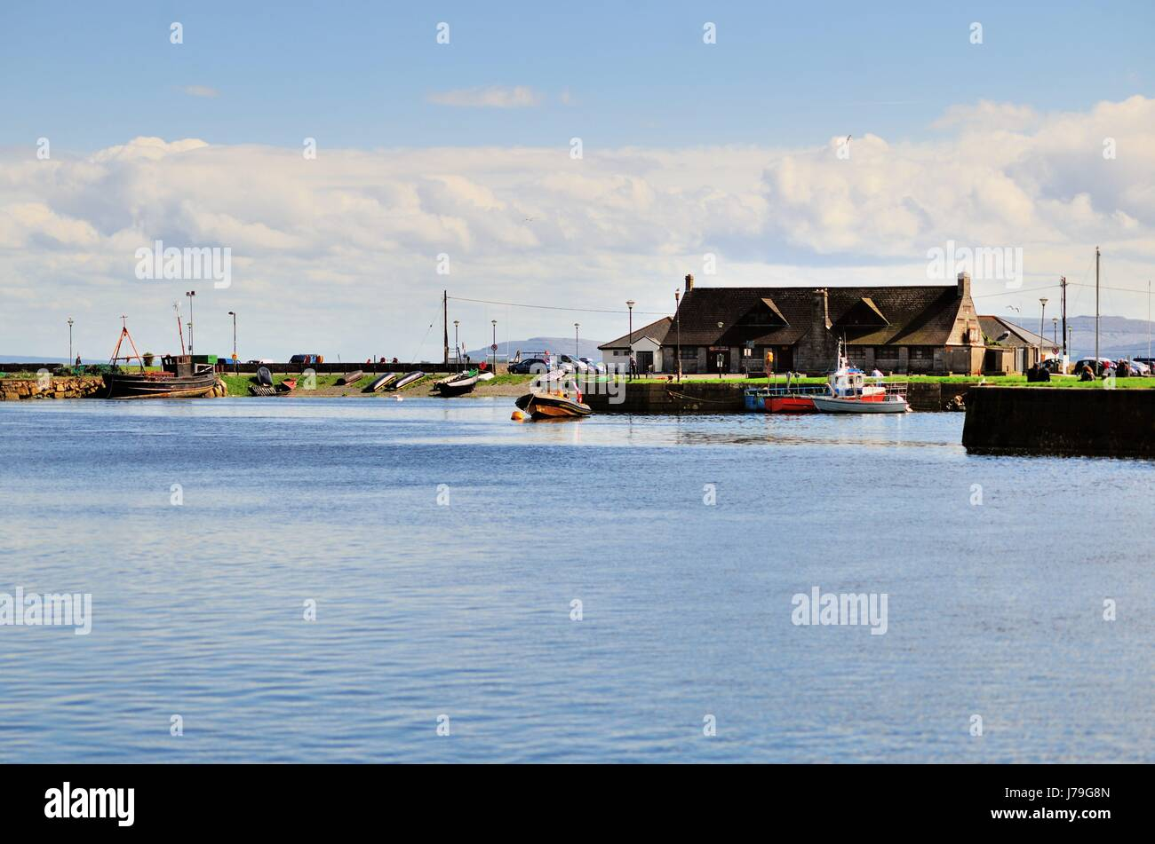 Open water of Galway Bay in Galway, County Galway, Ireland. - Stock Image