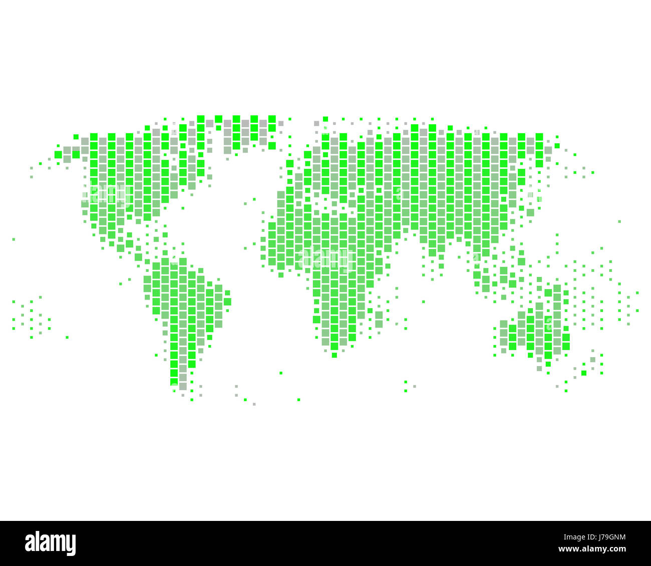 Square Earth Map.Green Angular Square Card Dot Globe Planet Earth World Atlas Map Of
