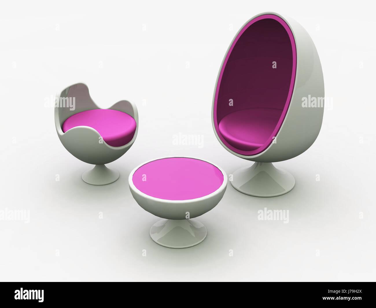 Modern Egg Chair   Pink