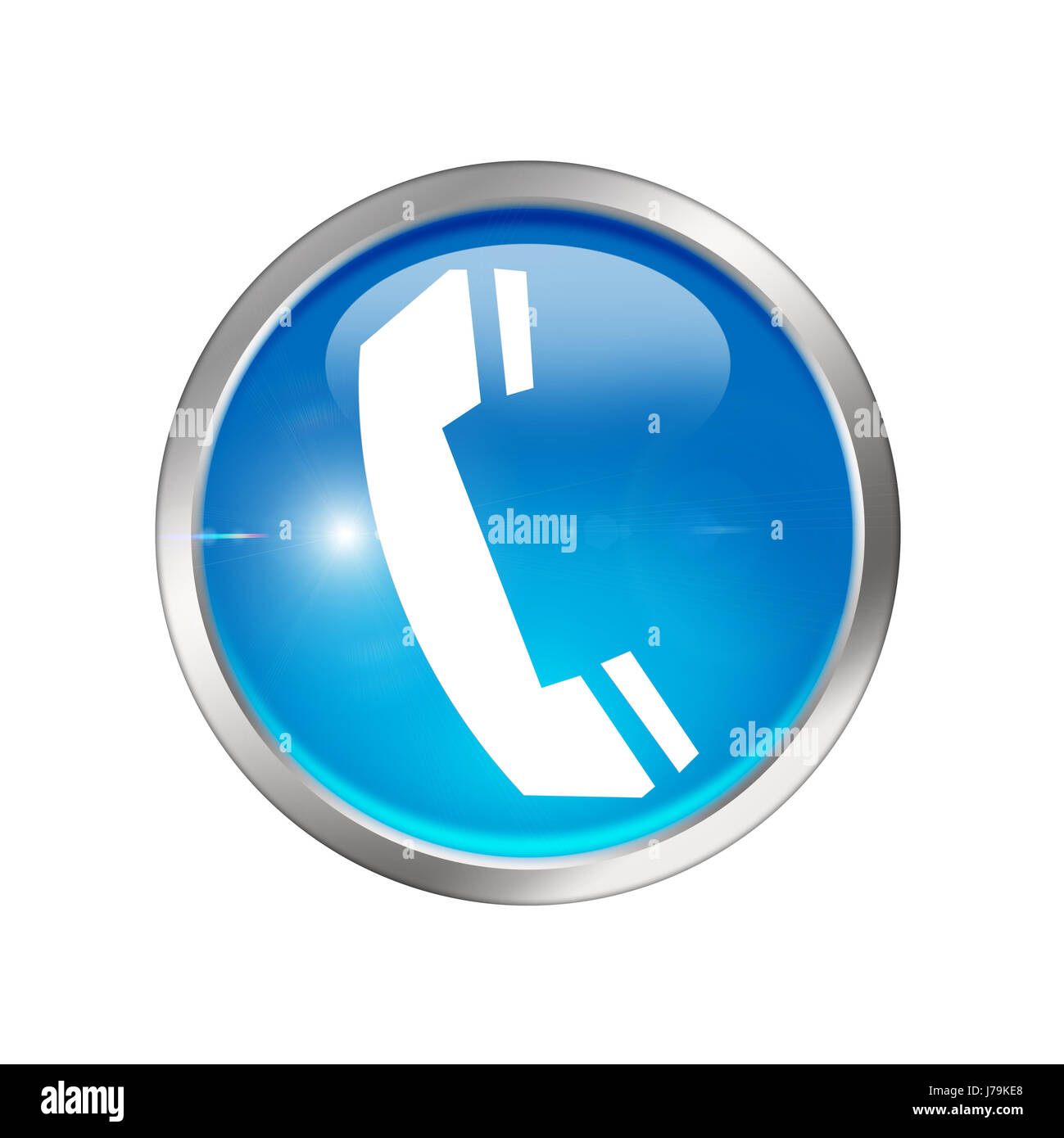 blue call button sign signal telephone box phonebooth telephone kiosk telephone - Stock Image