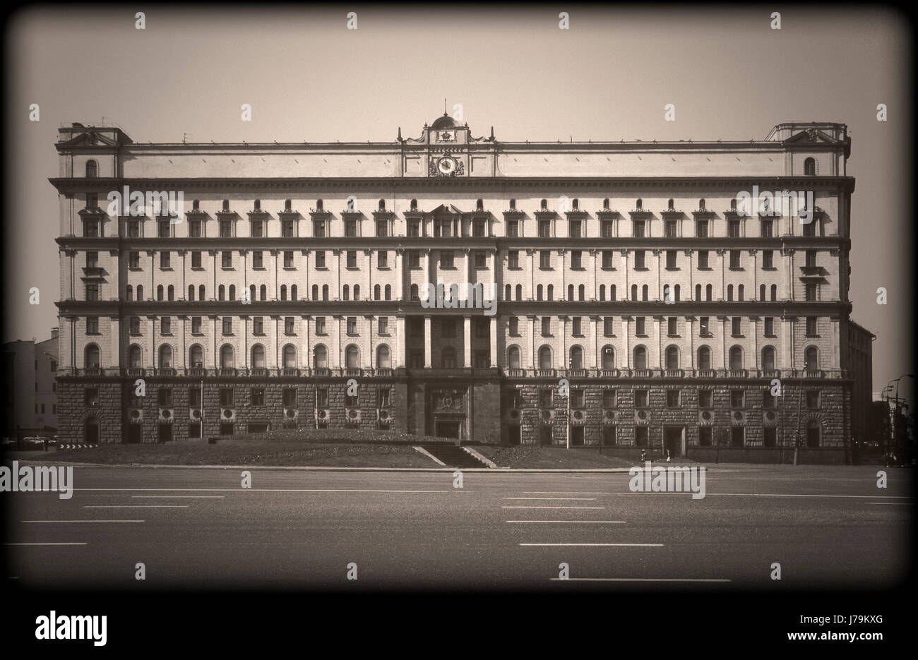 FSB (former KGB) headquarters building in Moscow, Russia - Stock Image