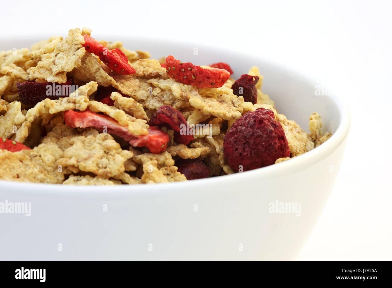food aliment fruit diet morning flake hairline crack fresh tomorrow glass - Stock Image