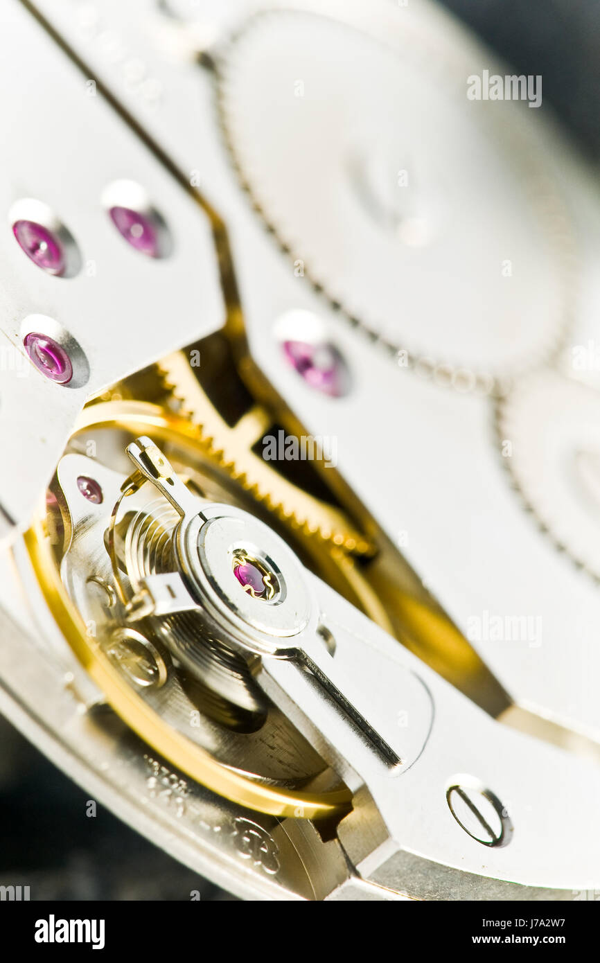 clockwork with gear wheels Stock Photo
