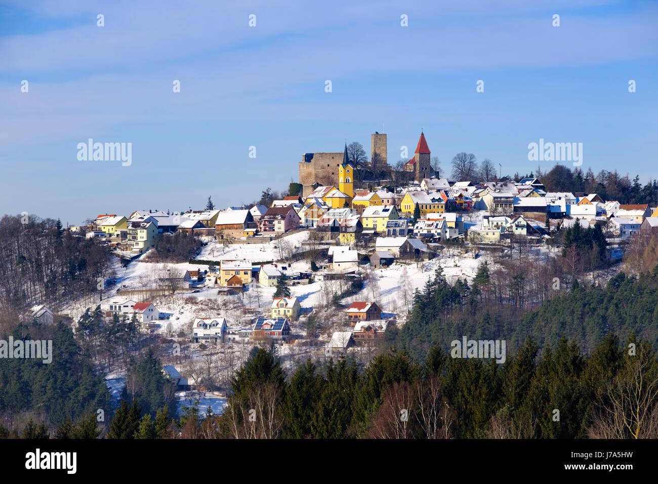 Leuchtenberg, Nördlicher Oberpfälzer Wald, Oberpfalz, Bayern, Deutschland - Stock Image