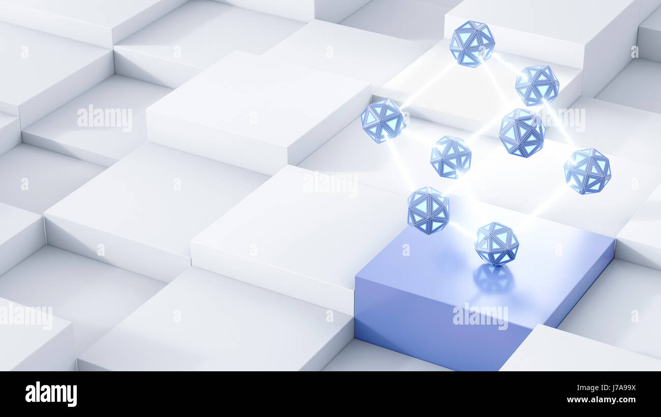 Energy cubes, 3d rendering - Stock Image