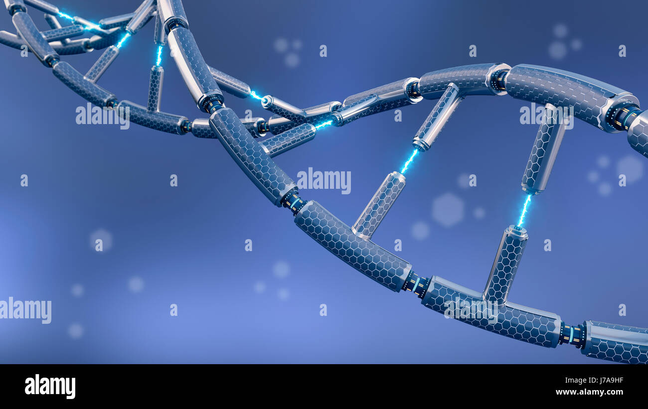 Technical DNA, 3d rendering - Stock Image