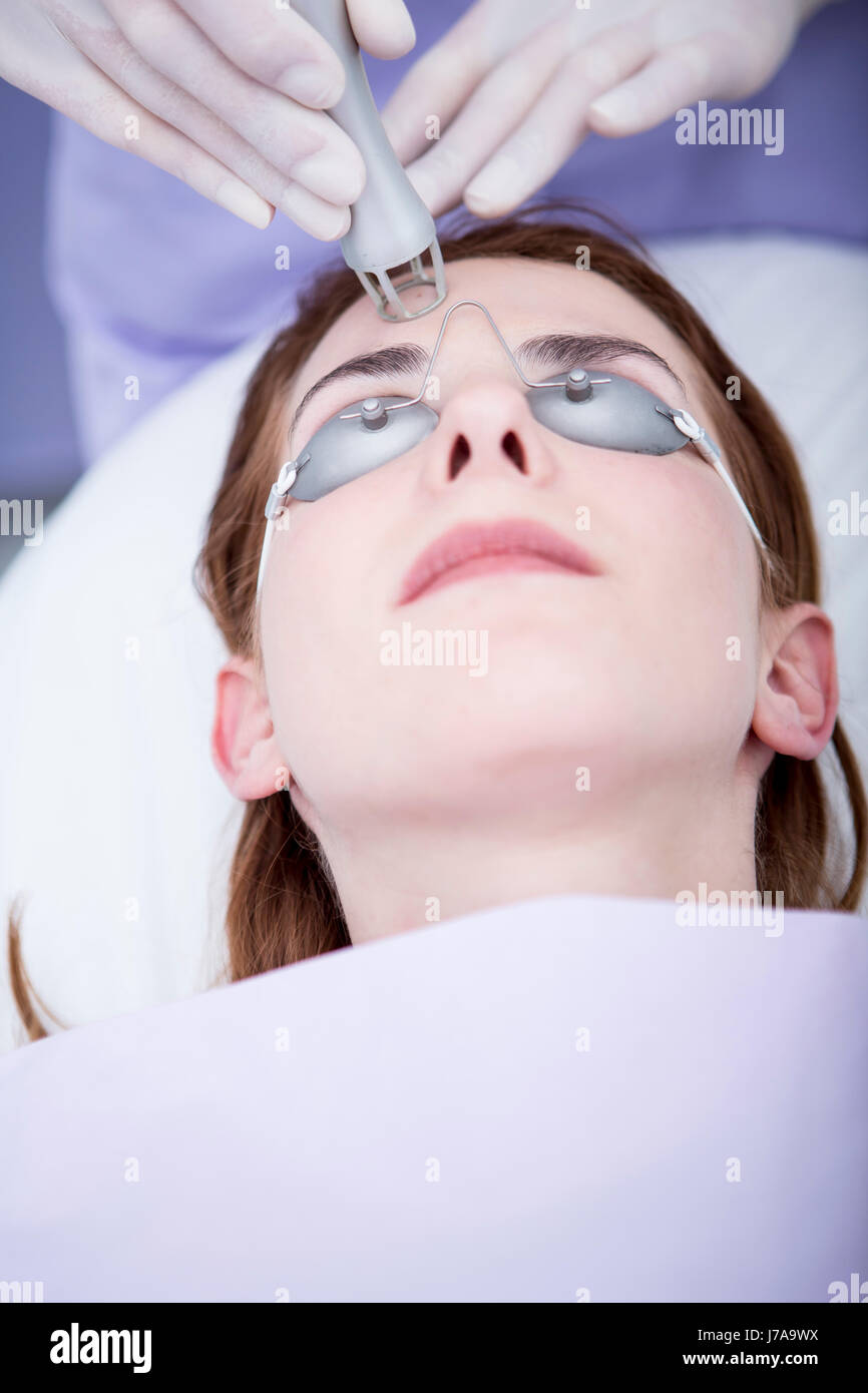 Aesthetic surgery, CO2 laser resurfacing - Stock Image