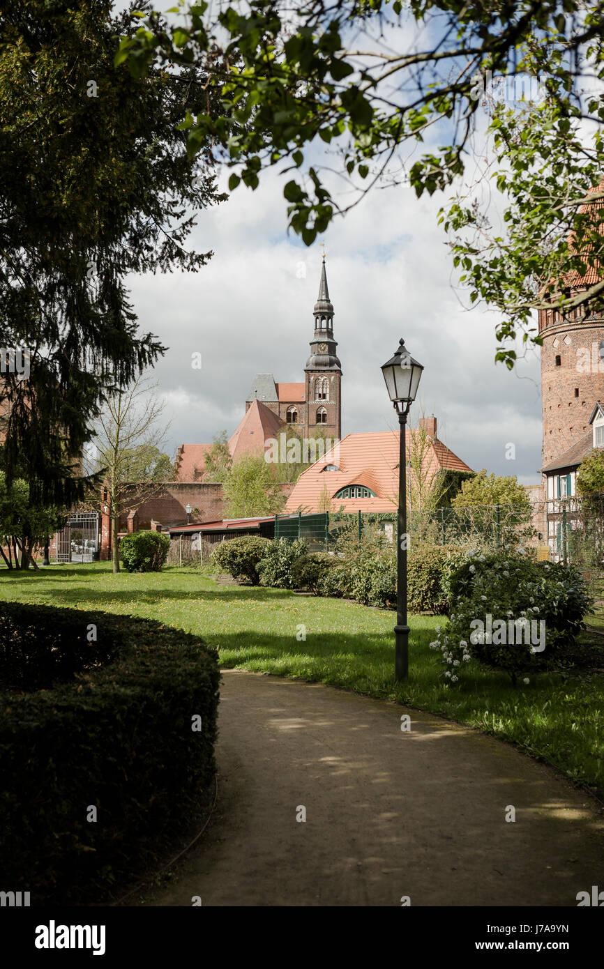 Tangermünde, Sachsen-Anhalt, Deutschland, Hansestadt, Blick zur Stephanskirche - Stock Image