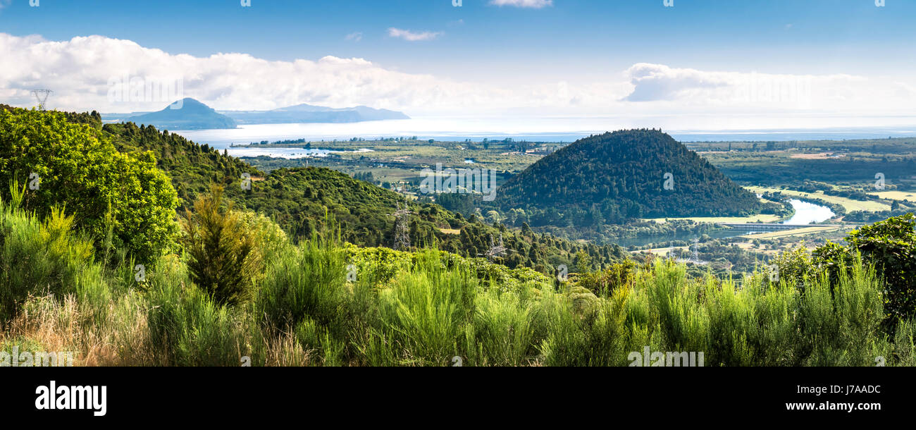 New Zealand, Taupo District, Lake Taupo - Stock Image