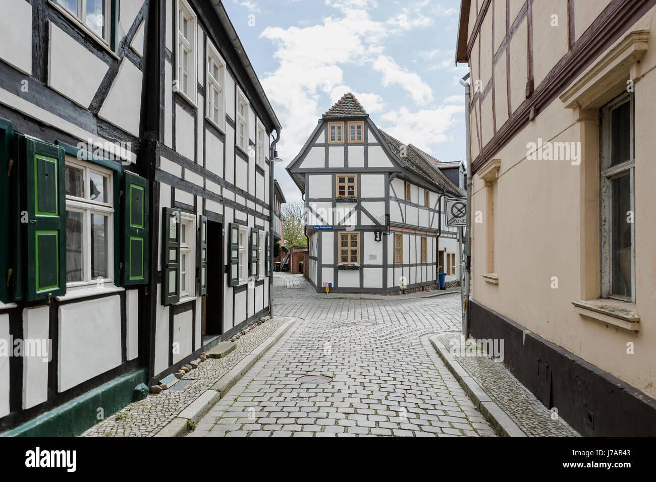 Tangermünde, Sachsen-Anhalt, Deutschland, Hansestadt, Gassen Stock Photo