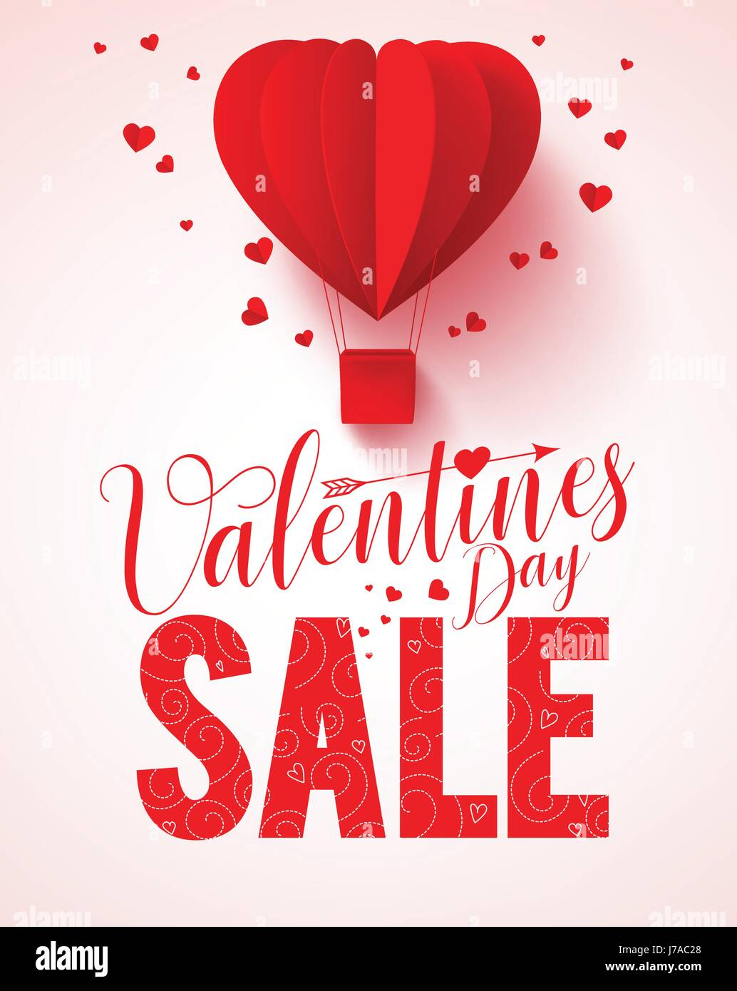 Valentines Day Sale Text Vector Design For Promotion With Heart