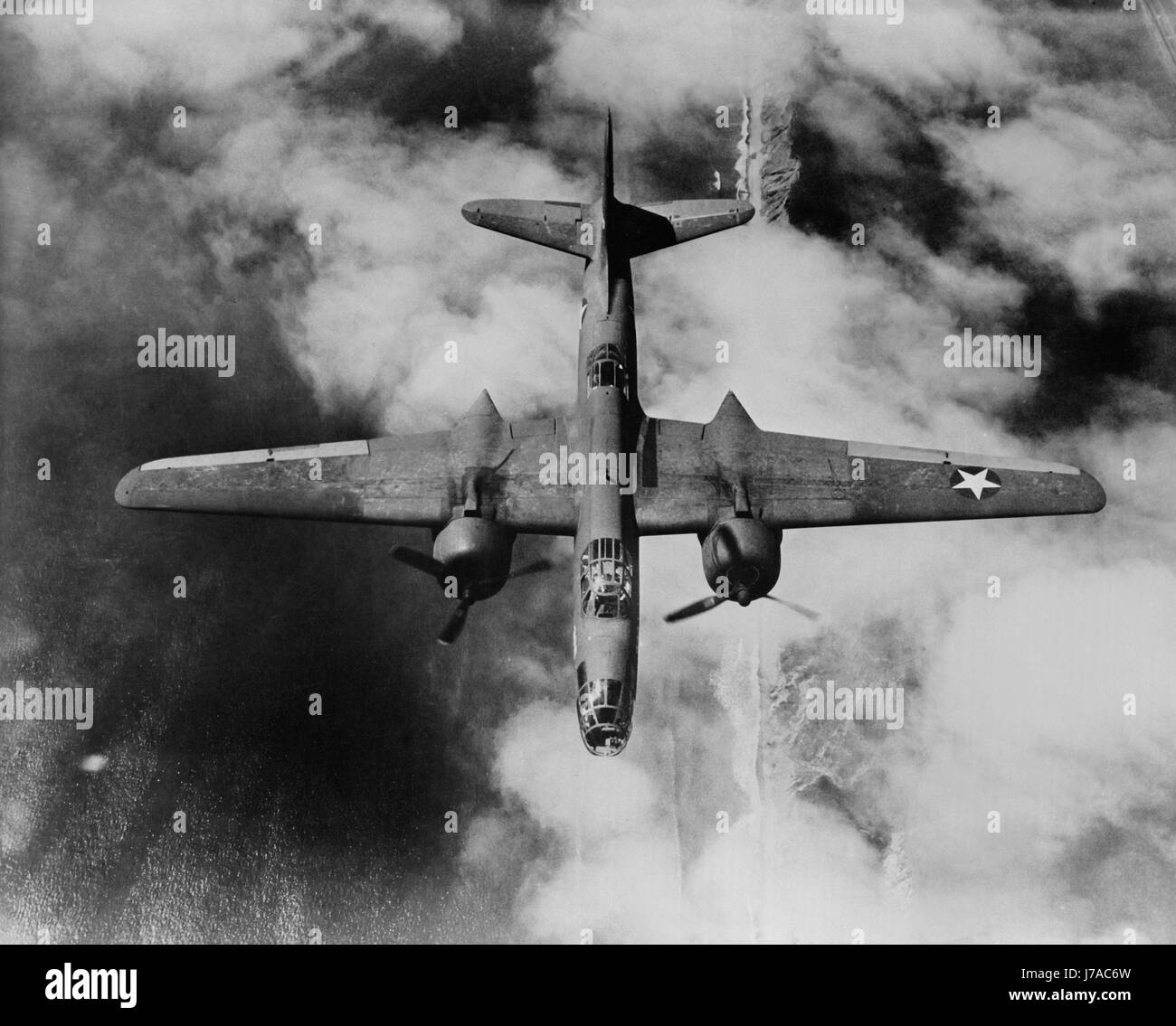 A U.S. Army Air Forces A-20 Havoc light bomber during World War II. - Stock Image