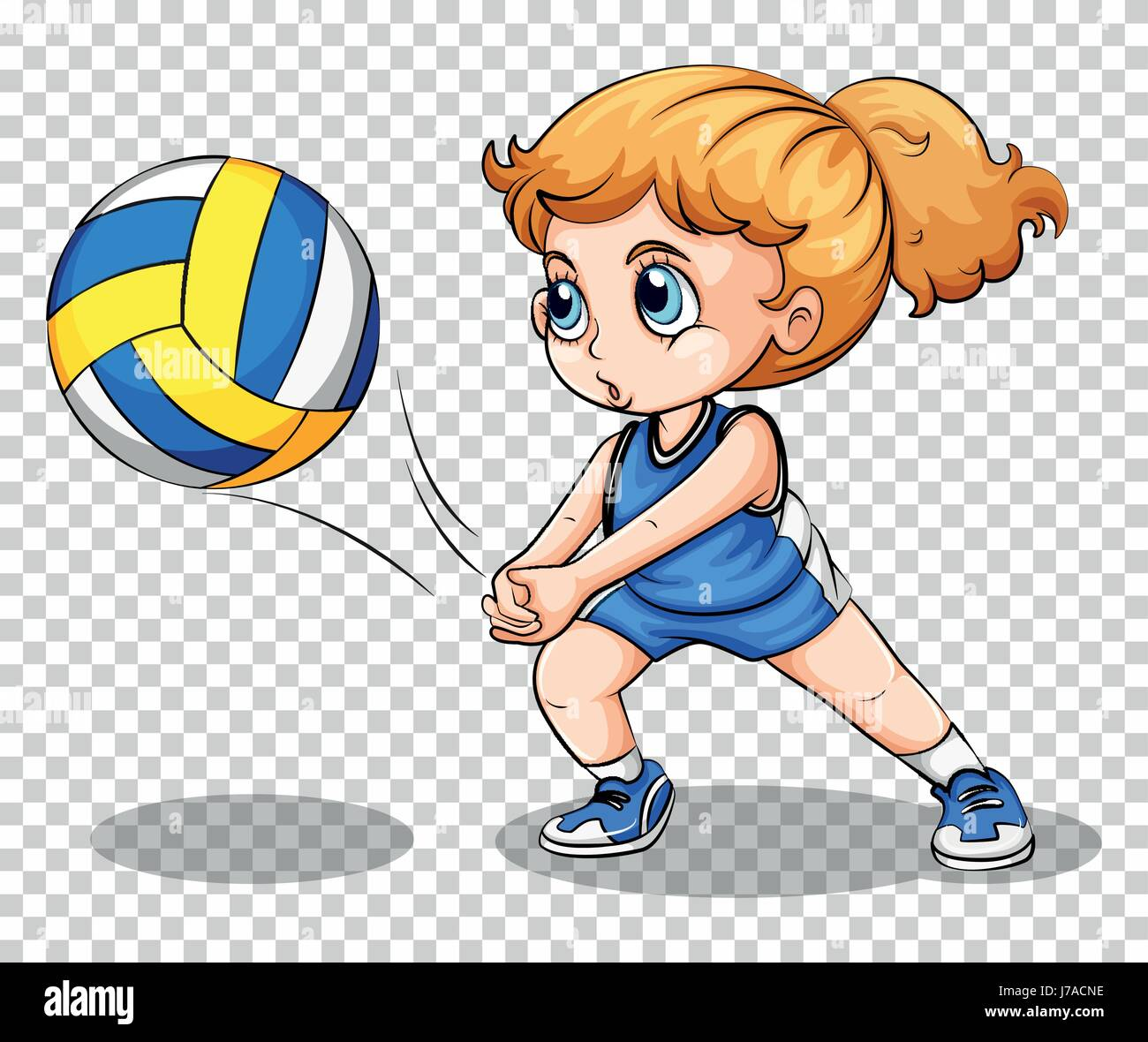 Volleyball Player On Transparent Background Illustration Stock Vector Image Art Alamy