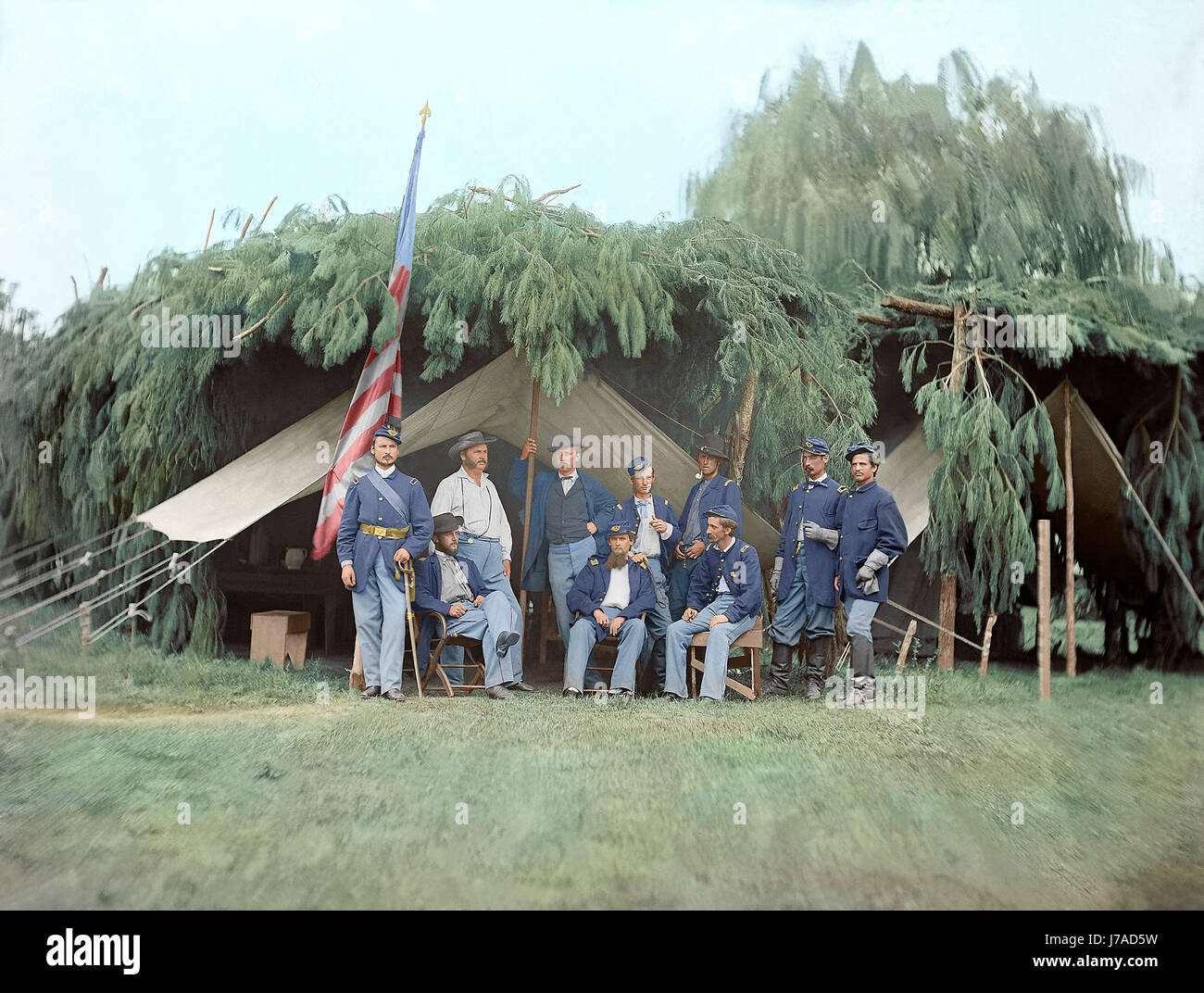 Officers of 4th New Jersey Infantry, American Civil War. - Stock Image