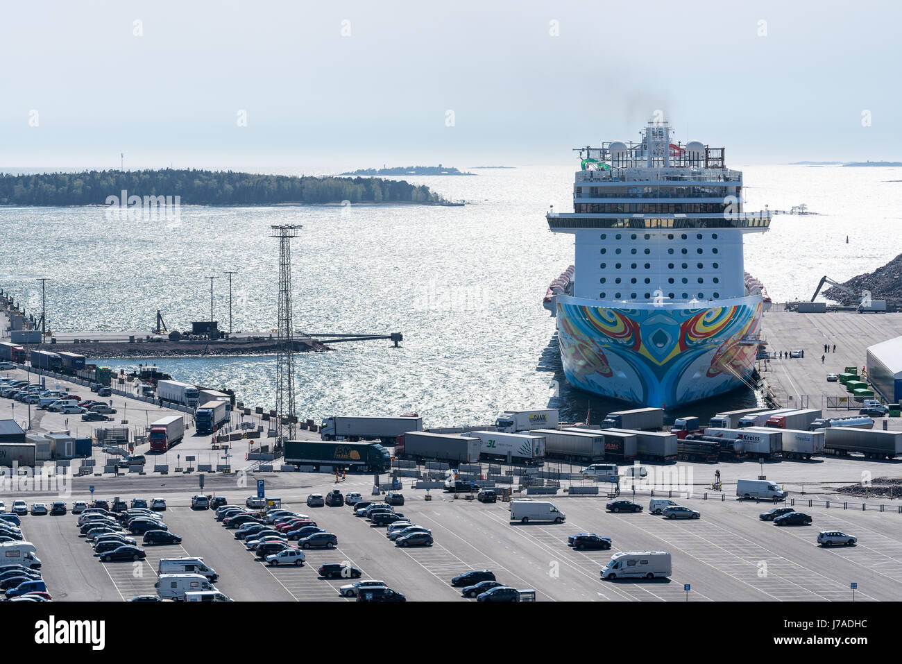 The Norwegian Getaway visiting Helsinki, Finland, Europe, EU - Stock Image