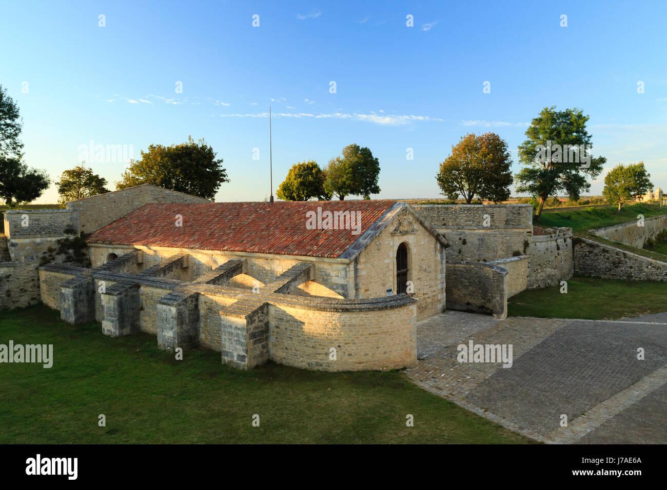 France, Charente Maritime, Hiers Brouage, Citadel of Brouage, gunpowder magazine of Saint Luc Stock Photo