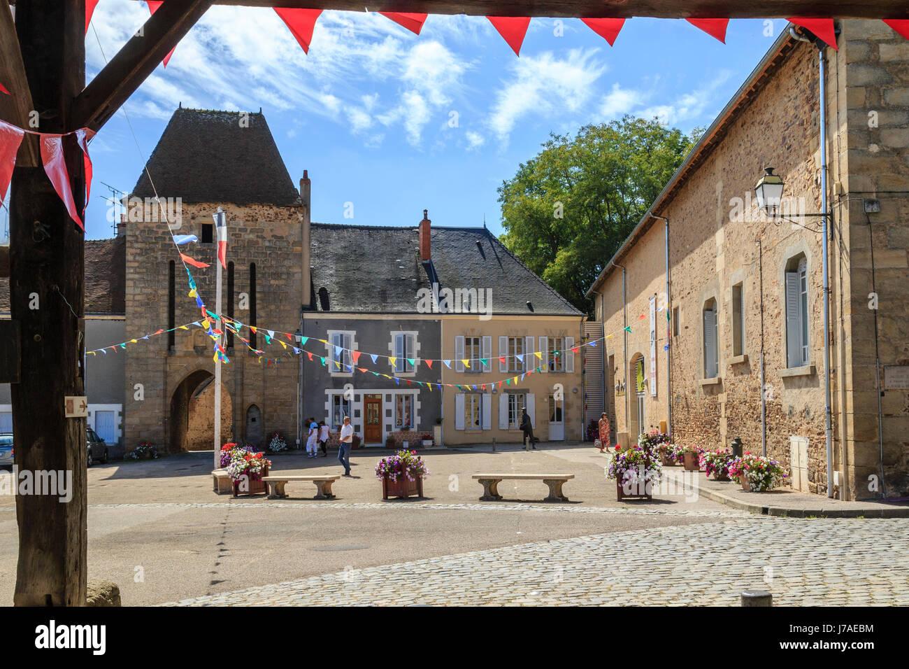 France, Indre, Sainte Severe sur Indre, Marche square, Stock Photo